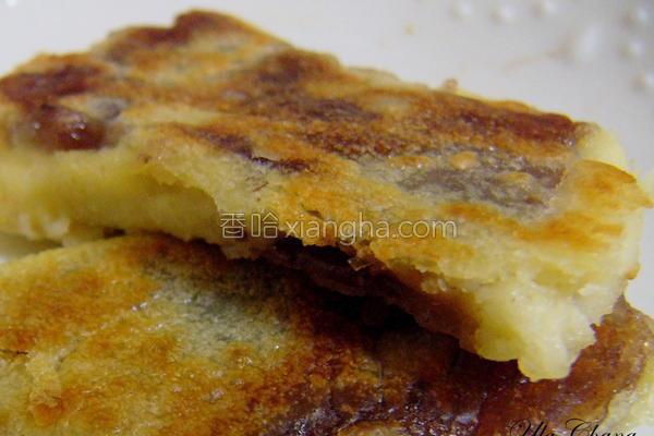 红豆年糕煎饼的做法