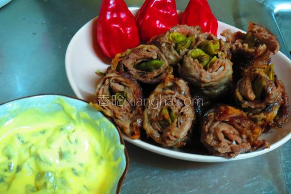 辣椒牛肉卷的做法