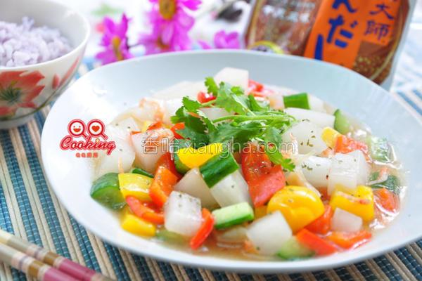 白玉烩彩蔬的做法