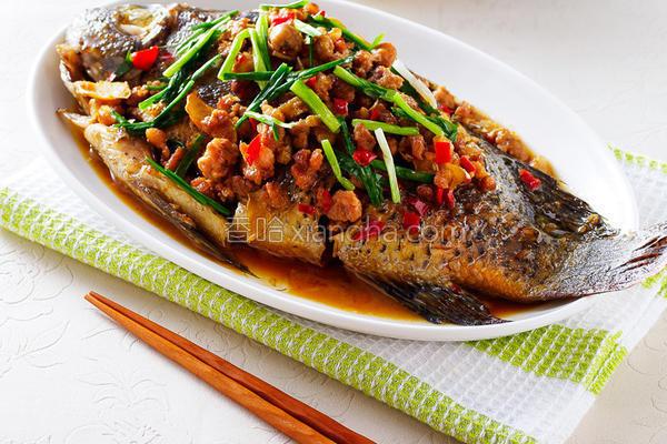 肉末酱烧鱼的做法