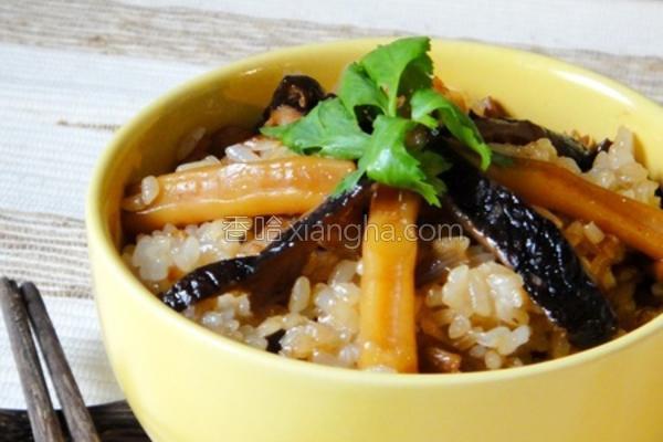 香菇鱿鱼油饭的做法