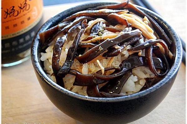 黑菇酱盖饭的做法