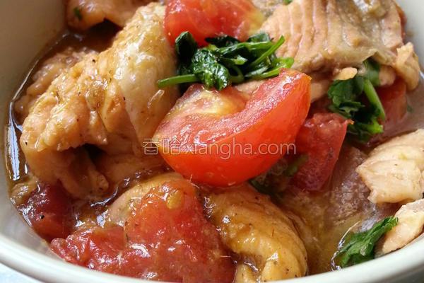 番茄三文鱼排的做法