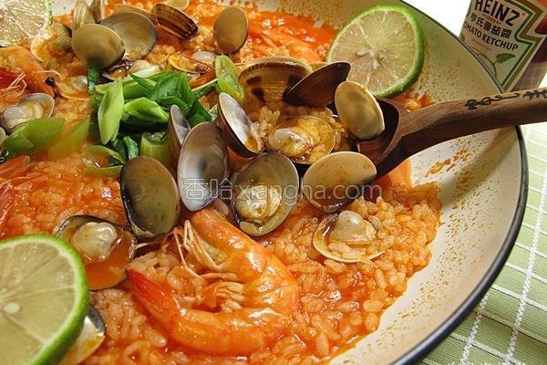 番茄海鲜炖饭的做法