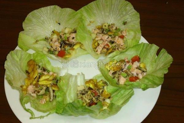 虾松料理的做法