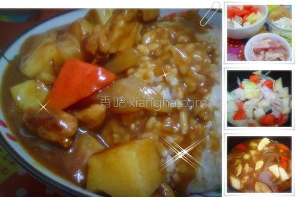 电子锅简易咖哩饭的做法