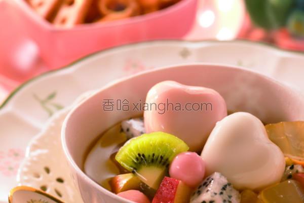 水果奶茶汤圆的做法