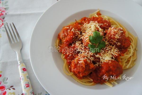 番茄肉丸意大利面