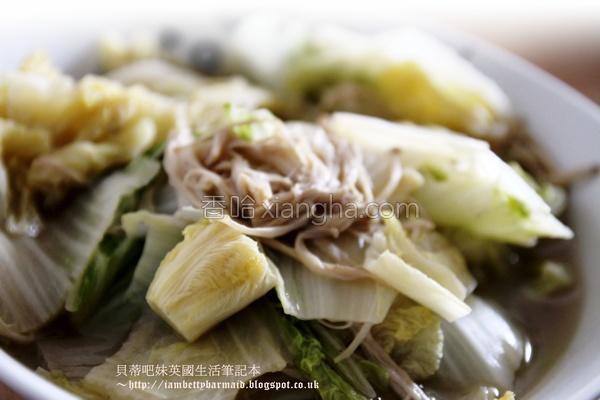 柴鱼滑炒大白菜的做法