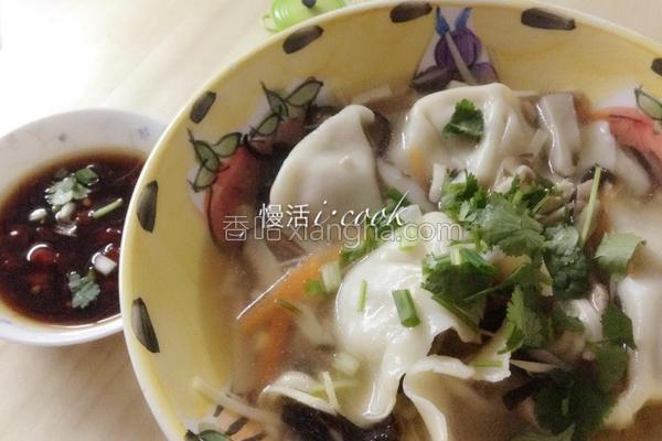 酸白菜汤饺的做法