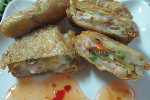 虾仁豆包酥的做法