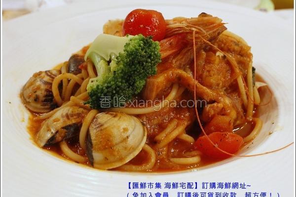 番茄海鲜意大利面的做法