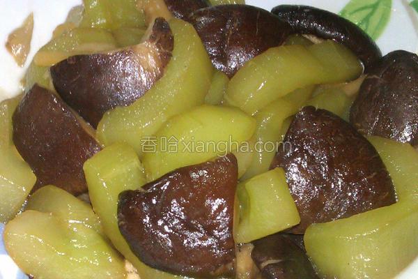 香菇卤大黄瓜的做法