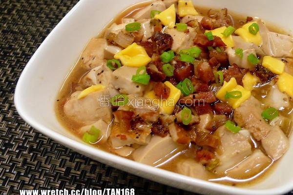 腊肉起司豆腐烧的做法