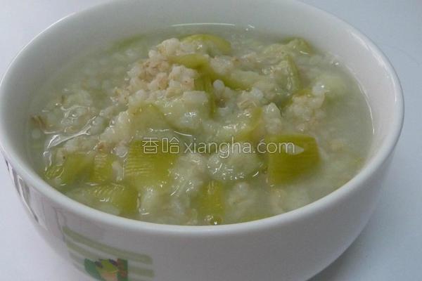 姜汁丝瓜糙米粥的做法