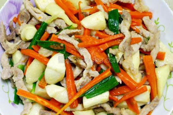 筊白笋炒肉丝的做法