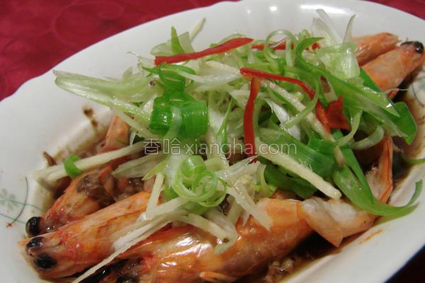 树子蒜茸虾的做法