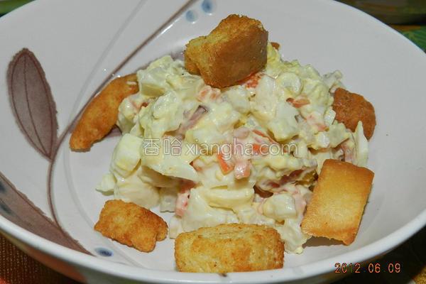 鸡蛋火腿沙拉的做法