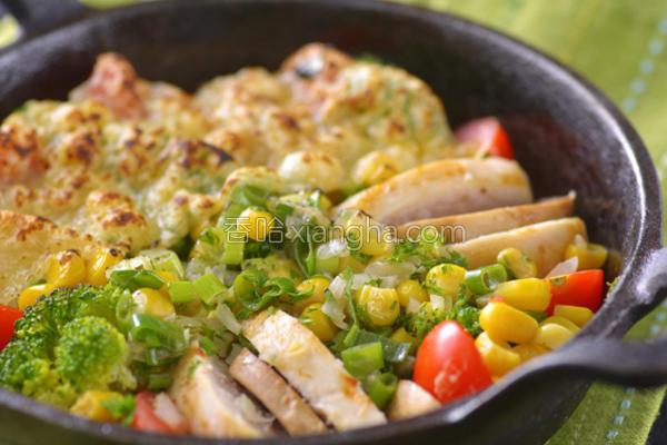 玉米焗烤鸡的做法