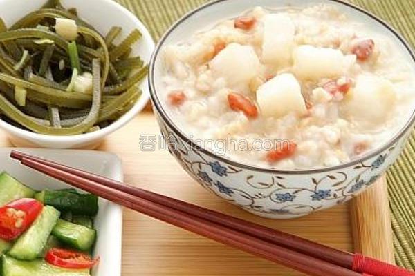 健康养生燕麦咸粥的做法