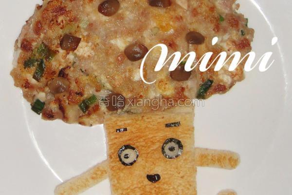 海鲜菇肉饼的做法