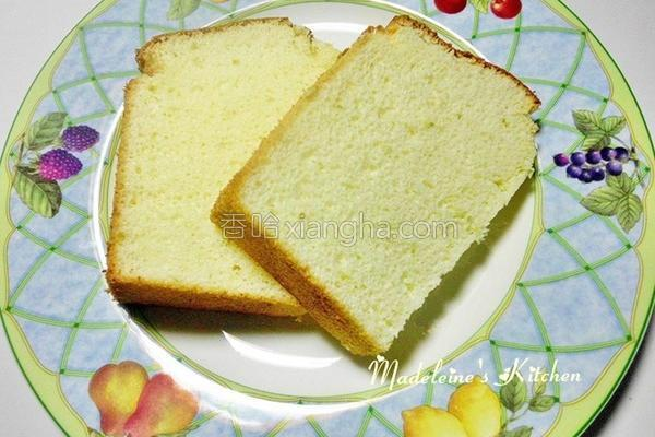 柠檬戚风蛋糕的做法