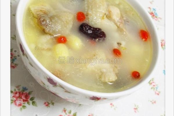 薏仁莲子鸡汤的做法