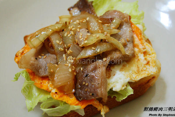 照烧猪肉三明治的做法