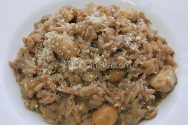 意式奶油蘑菇炖饭的做法