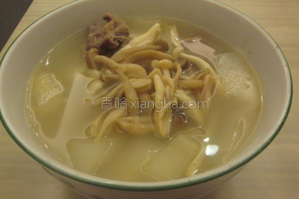 双菇冬瓜排骨汤的做法