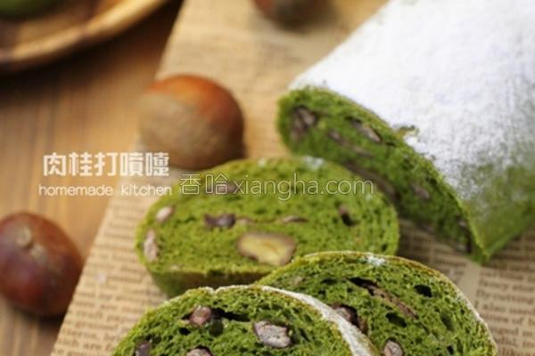 日式抹茶圣诞面包的做法