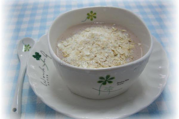 麦片黑豆浆酸奶的做法