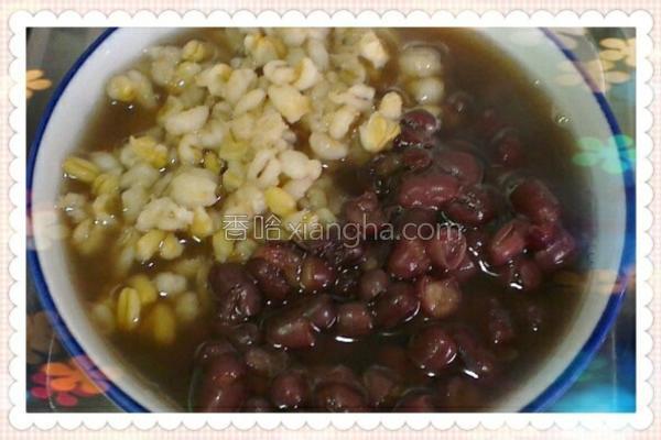 薏仁燕麦片红豆汤的做法
