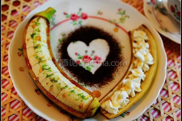 蜂蜜香蕉的做法