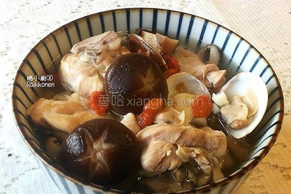 蒜香养生鸡汤的做法