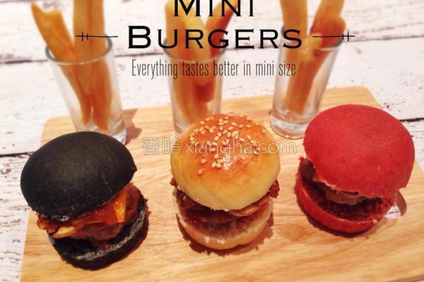 三色迷你汉堡的做法