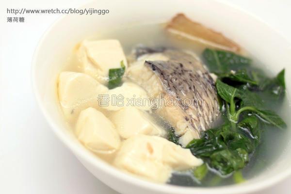 鲈鱼豆腐汤的做法