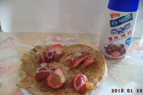 香葱草莓葱油饼的做法