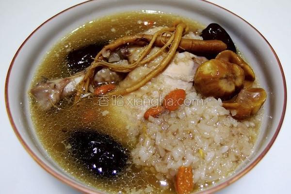 韩式糯米栗子鸡的做法