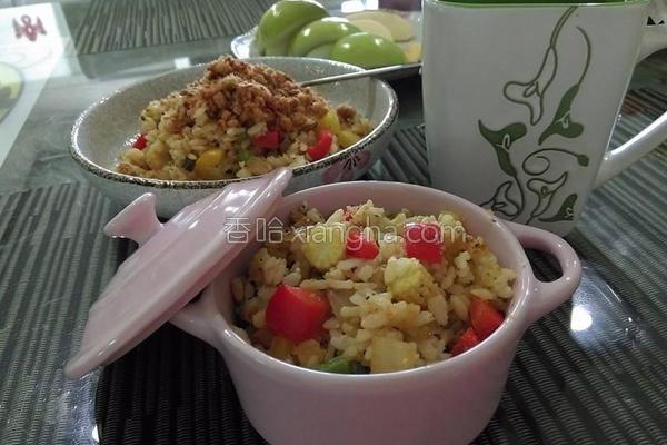彩椒炒饭的做法