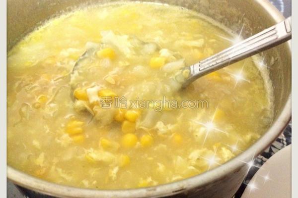玉米蔬菜浓汤的做法