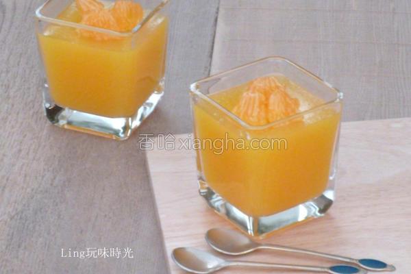 橘子魔芋果冻的做法