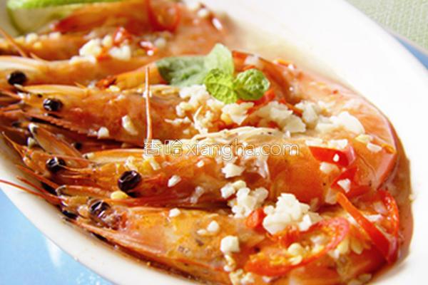 厚生厨房酸辣蒸虾的做法