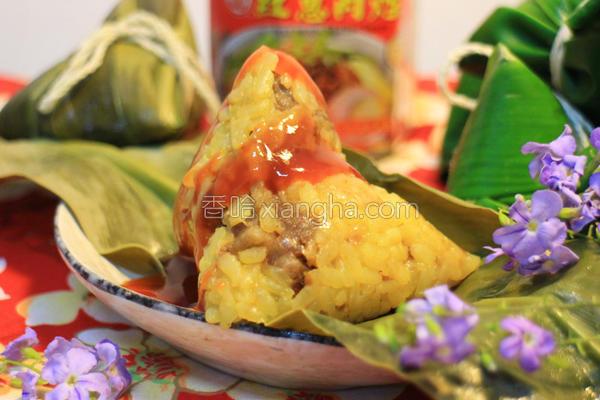 金黄香米粽的做法