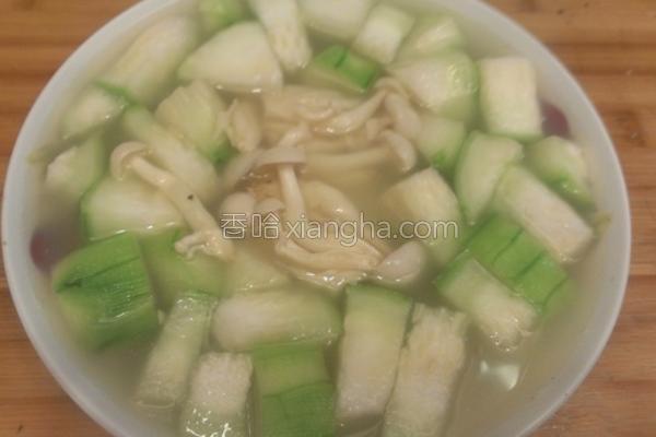菇菇丝瓜汤的做法