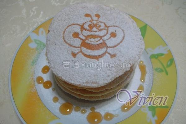 蜜蜂松饼的做法