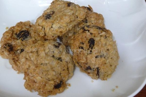 软式燕麦葡萄饼干的做法