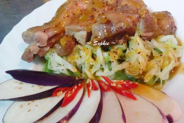 芒果香蔬烤鸡的做法