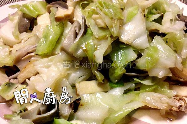 豆干炒椰菜的做法