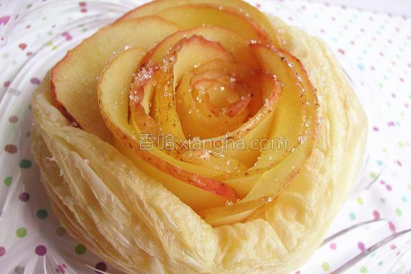 玫瑰苹果派的做法